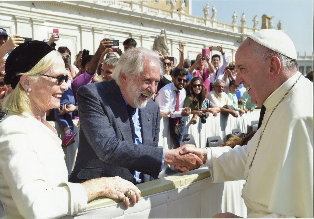 David and Patsy Puttnam meet Pope Francis to discuss Climate Change - September 2016